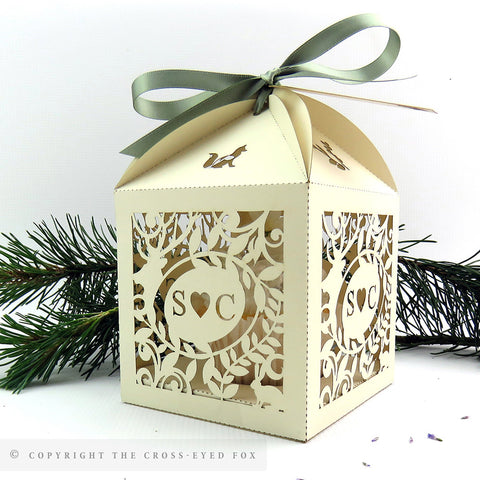 Rustic Woodland Extra Large Favour Box | Cupcake Box