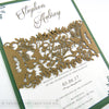 Rustic Woodland Wedding Invitation A5 Belly Band