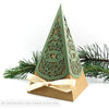 Rustic Woodland Pyramid Personalised Favour Boxes