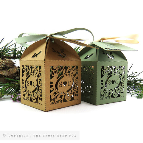 Rustic Woodland Personalised Favour Boxes