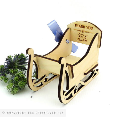 Santa's Sleigh Wooden Place Setting