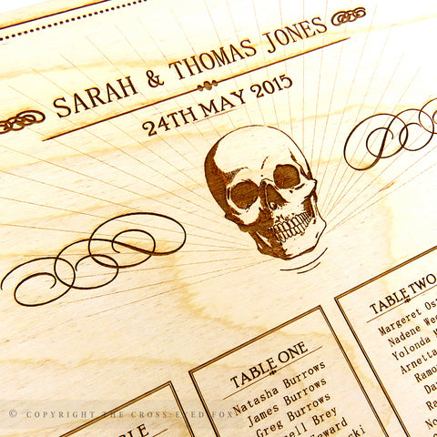 Skull Engraved Seating Plan
