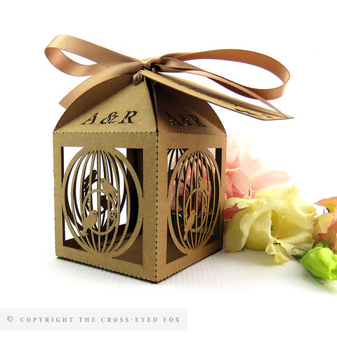 Vintage Birdcage Personalised Favour Boxes
