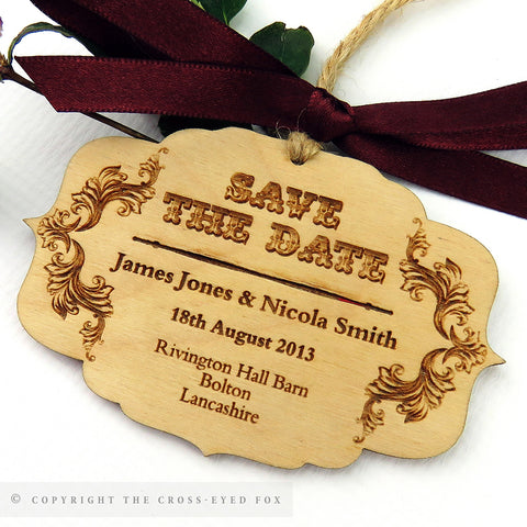 Vintage Ringmaster wooden Save the Date