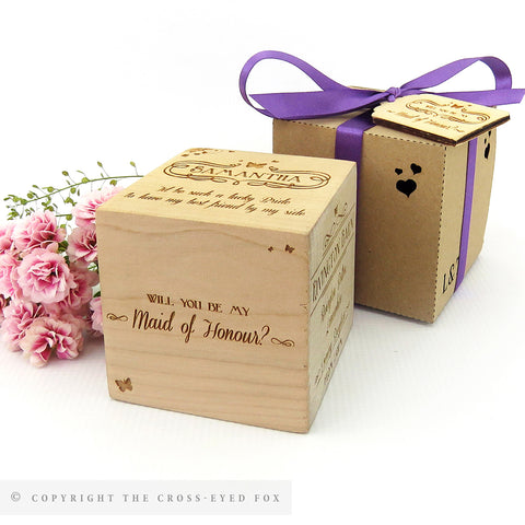 Maid of Honour & Bridesmaid Invitation Keepsake