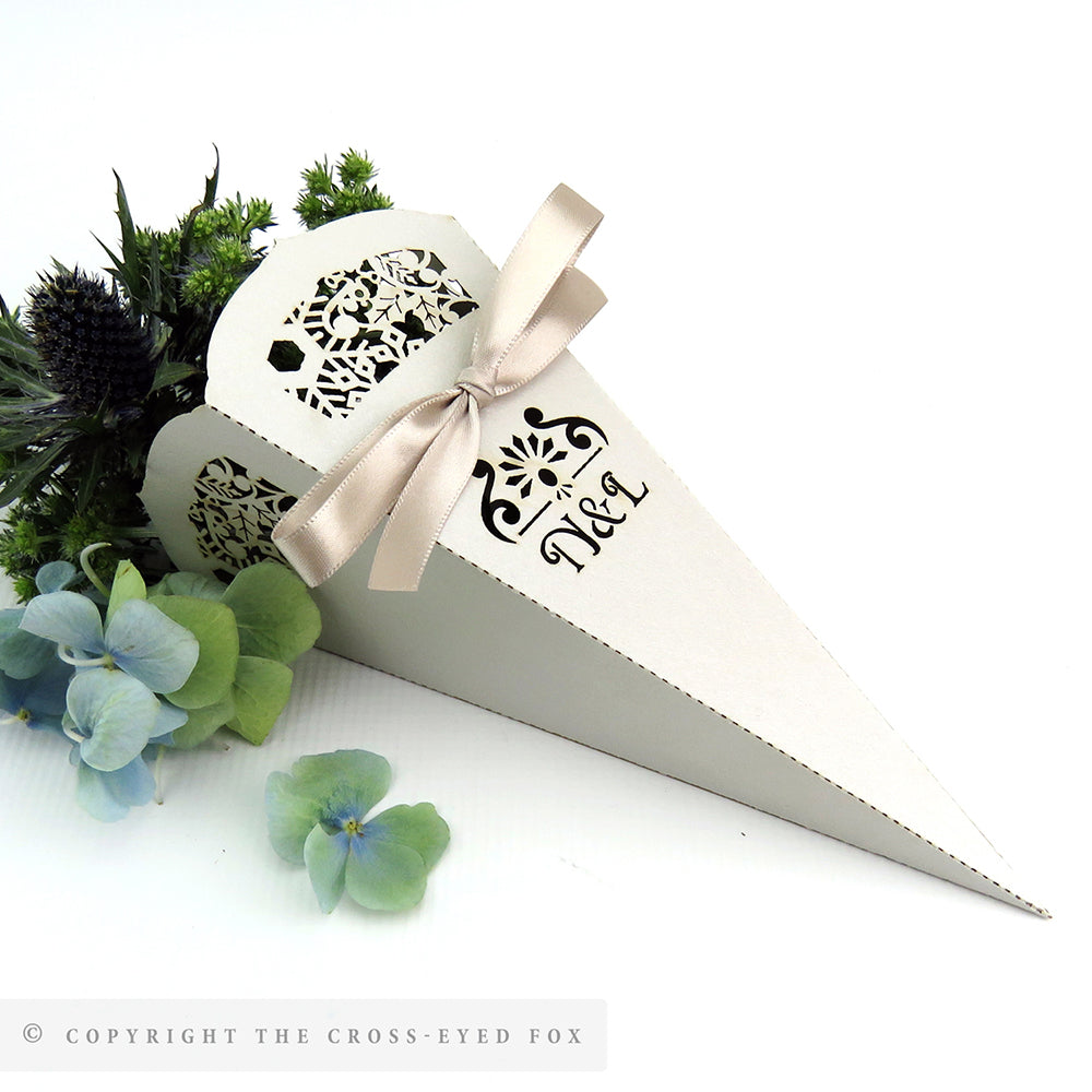 Winter Snowflake Wedding Confetti Cones – The Cross-Eyed Fox