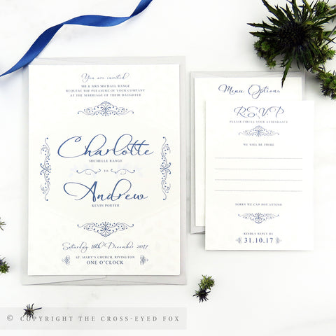 Winter Snowflakes Wedding Invitations