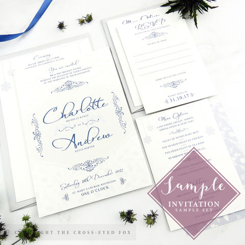 Winter Snowflakes | Sample Set Printed Wedding Invitations