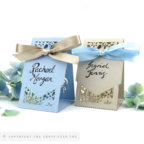 Winter Snowflakes Place Cards