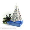 Winter Snowflakes Pyramid Personalised Favour Boxes
