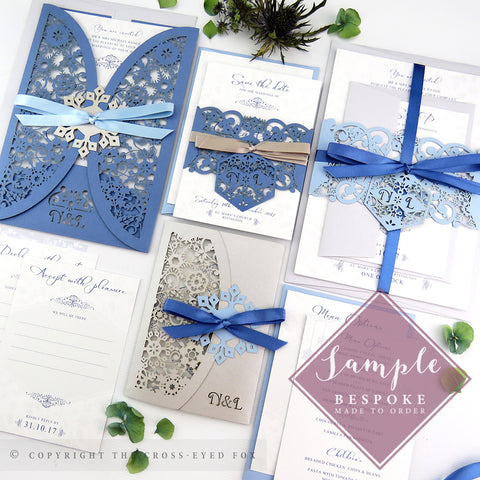 Winter Snowflakes | Sample Set Full Collection | Laser Cut Wedding Stationery