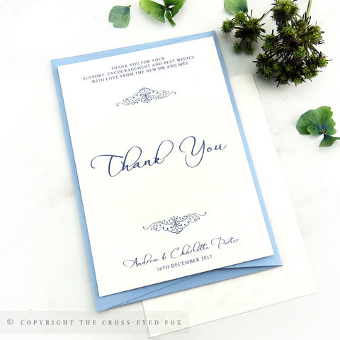 Winter Snowflakes Wedding Thank You Cards