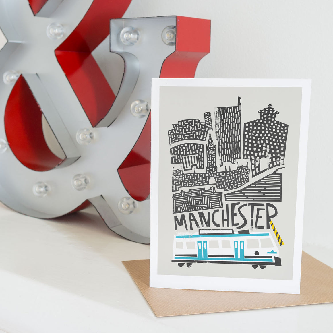 Manchester Cityscape Card