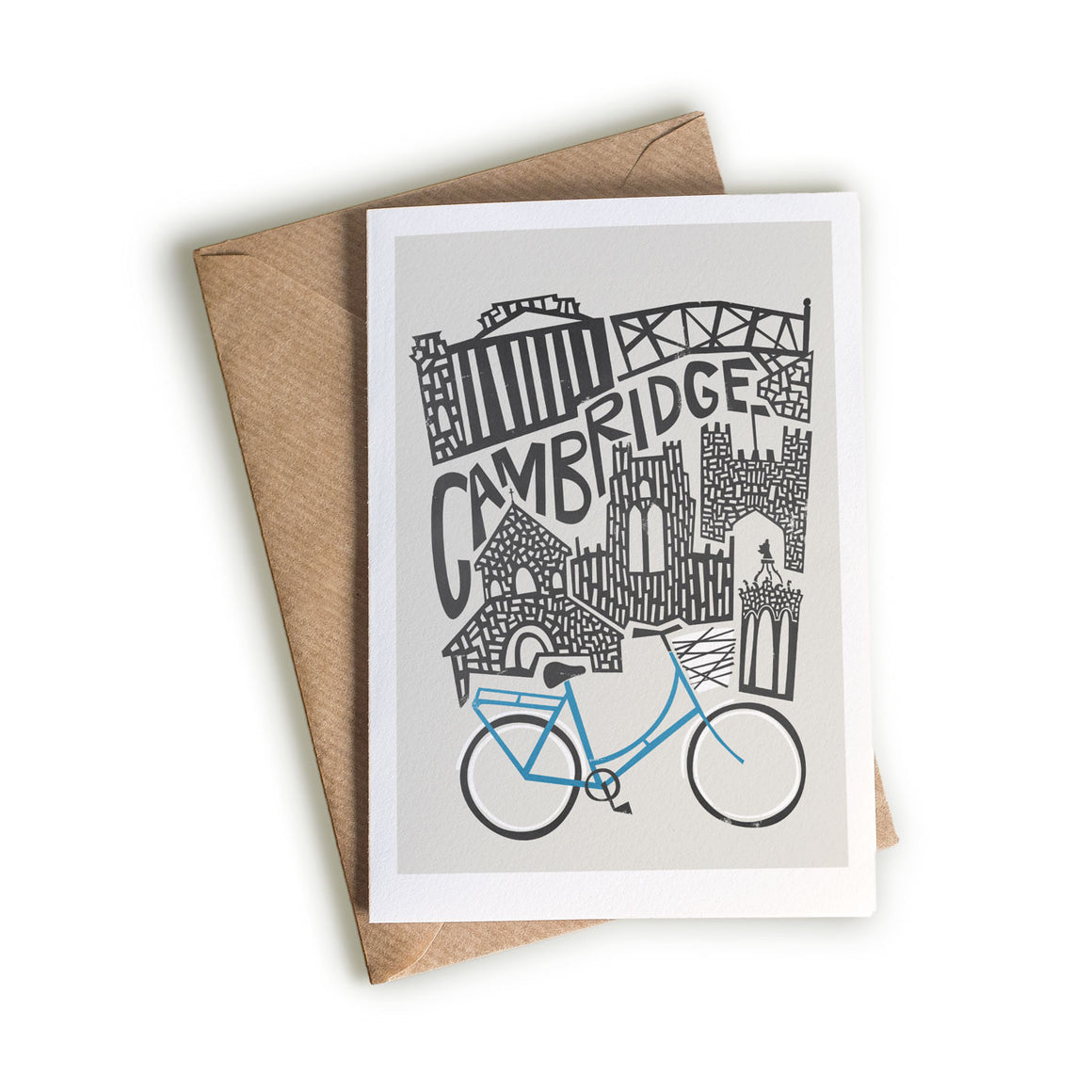 Cambridge Cityscape illustration greetings card by fox and velvet