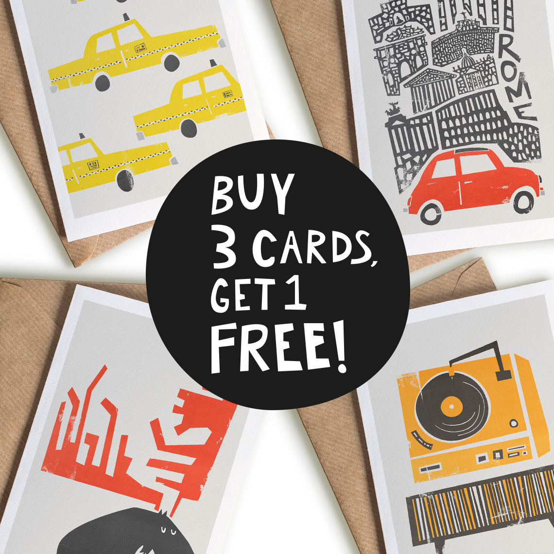 Buy 3 Cards, Get 1 Free!