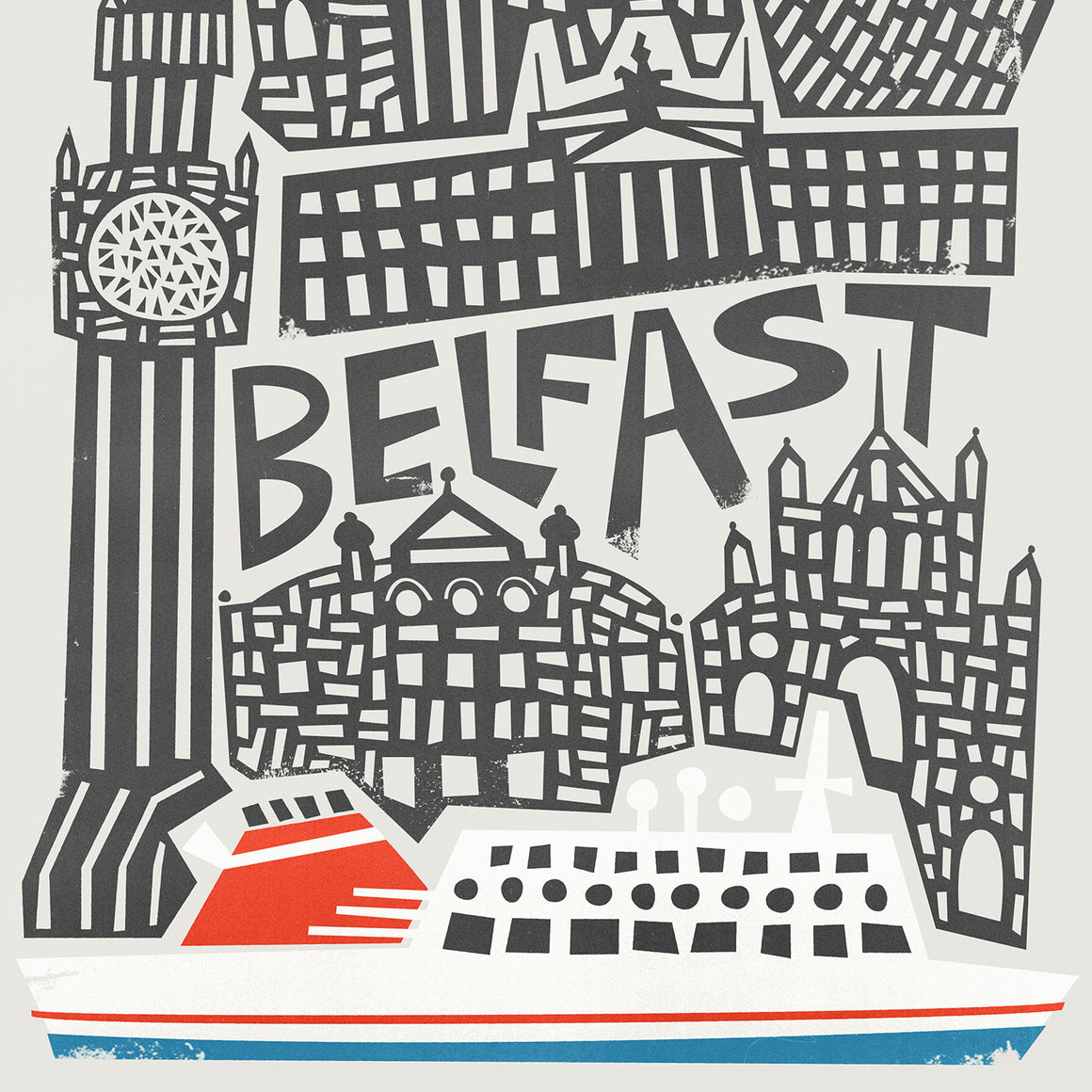 Belfast City Art Print by Fox And Velvet