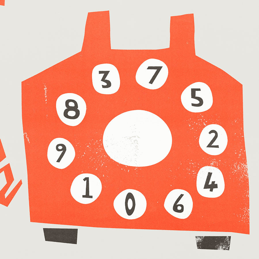 Retro Orange Telephone Card