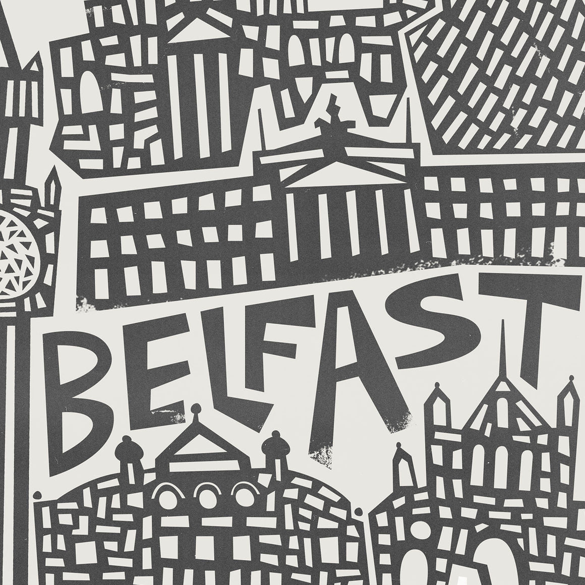 Belfast Cityscape Greeting Card