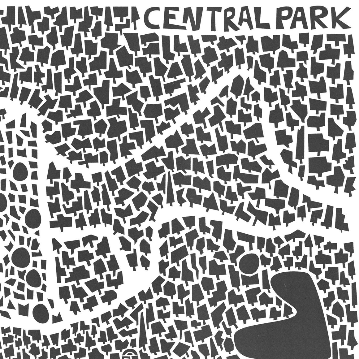 Central Park new York illustration art print by fox and velvet