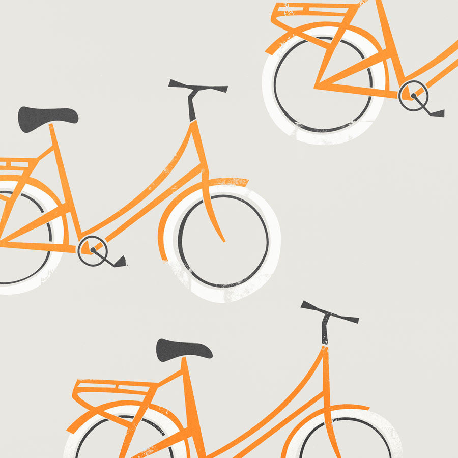 Bicycle illustration greetings card by fox and velvet