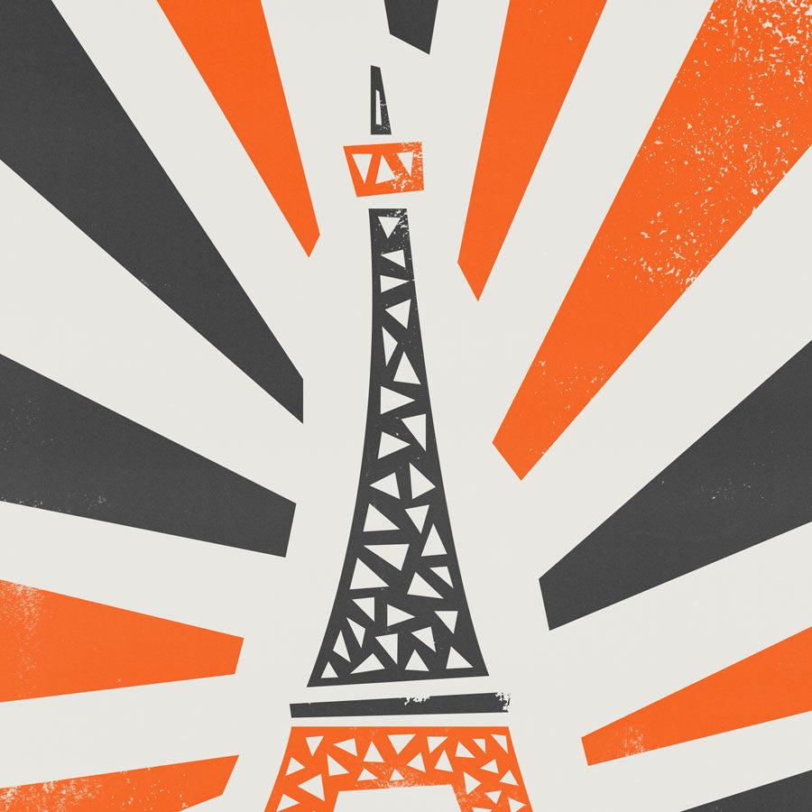 Eiffel tower illustration greetings card by fox and velvet