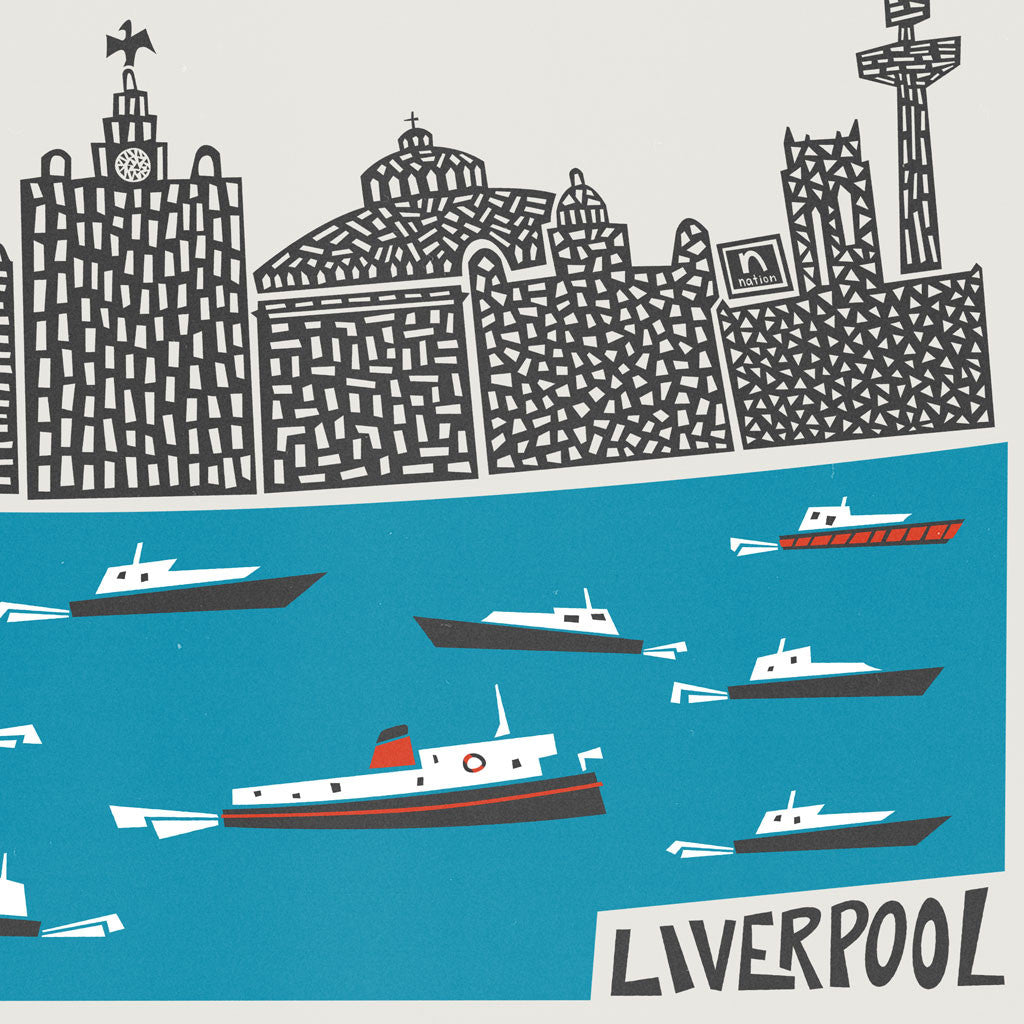Liverpool City Skyline Print