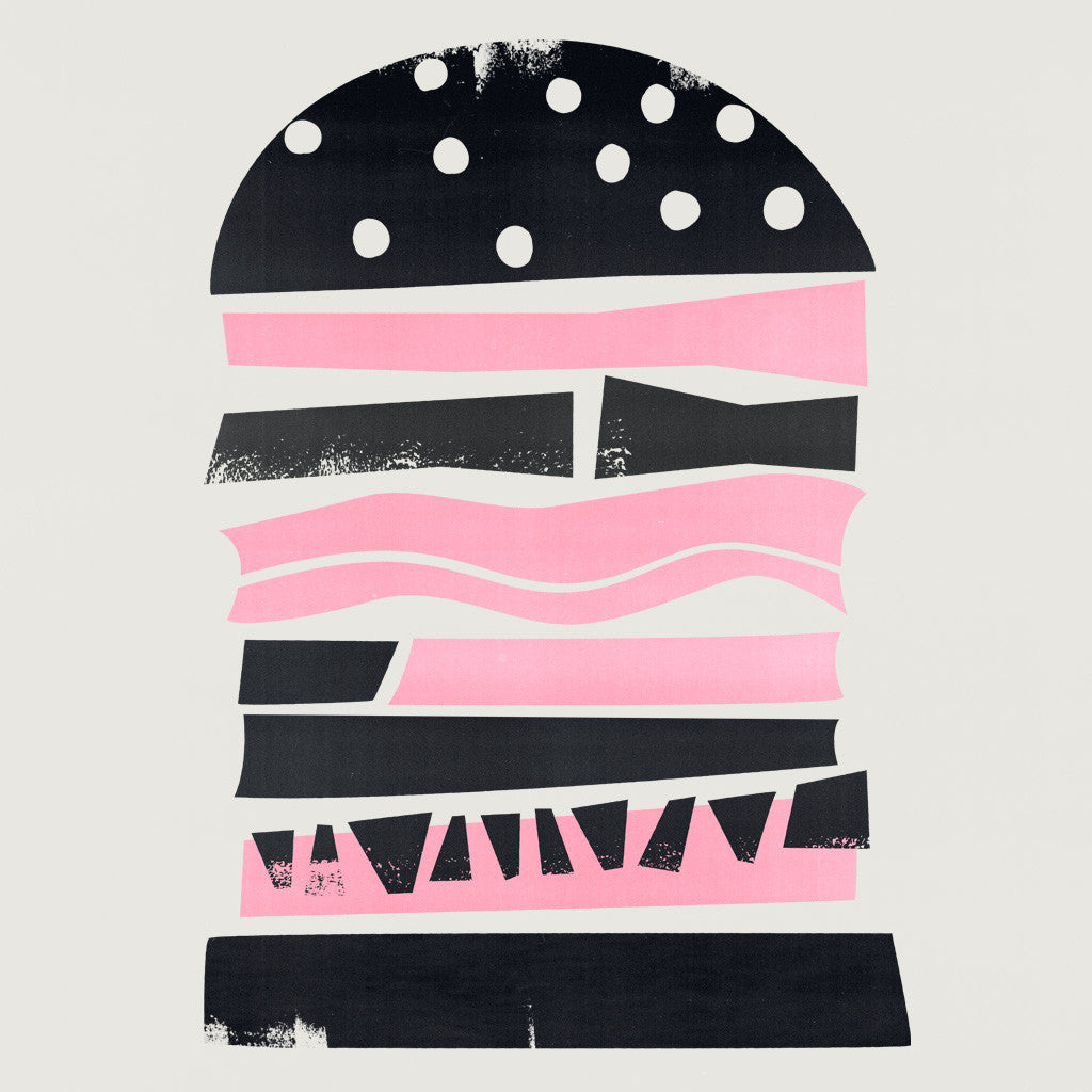 retro burger illustration