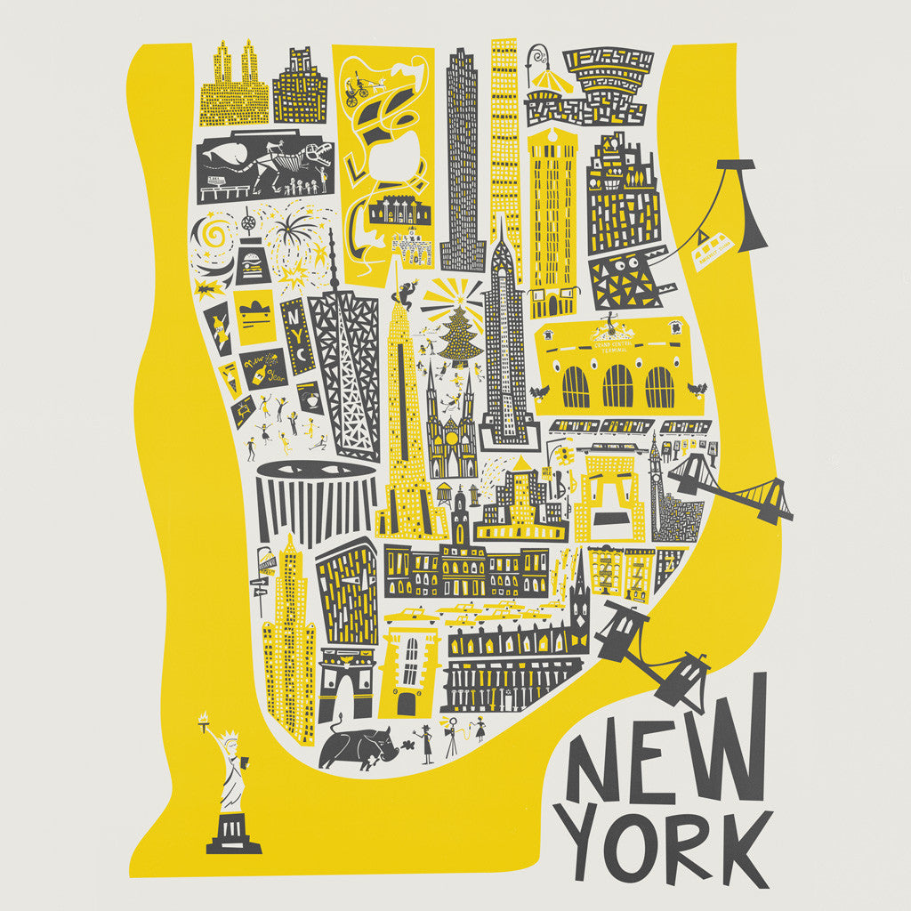 New York Map by Fox and Velvet