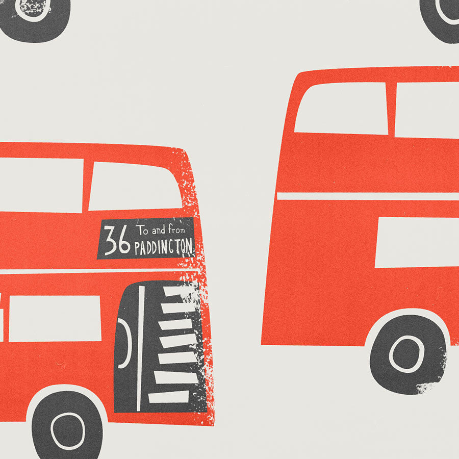 Mounted London Red Bus Print