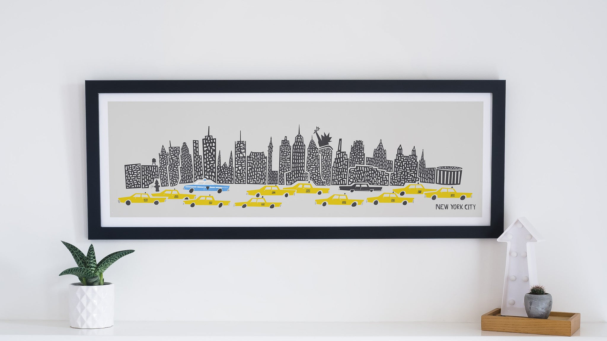 Panoramic New York Print