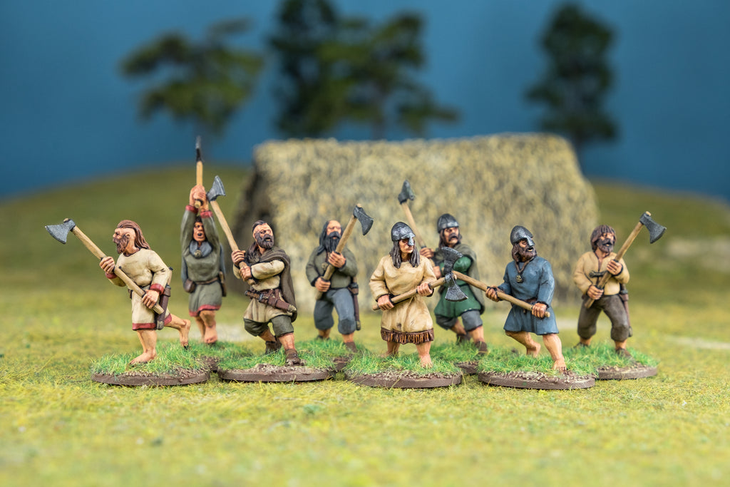 Footsore Miniatures' Irish Fianna with Axes