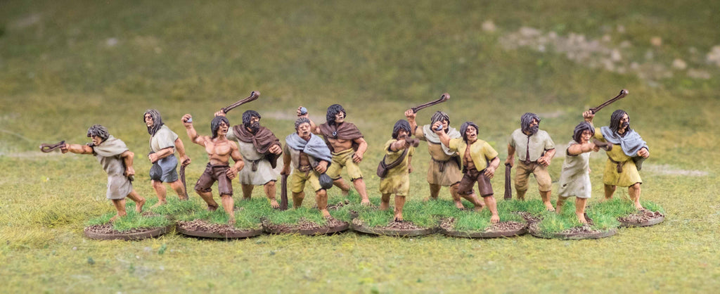 Footsore Miniatures' Irish Slingers