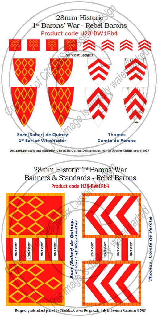Saer de Quincy & Thomas, Comte de Perche, Banners + Decals