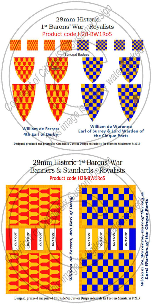 William de Ferrers & William de Warenne, Banners + Decals