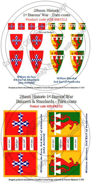 William de Forz & William Marshal jnr, Banners + Decals