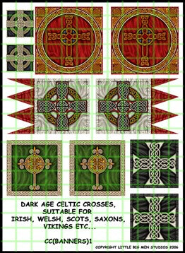 Dark Age Celtic Crosses Banner sheet
