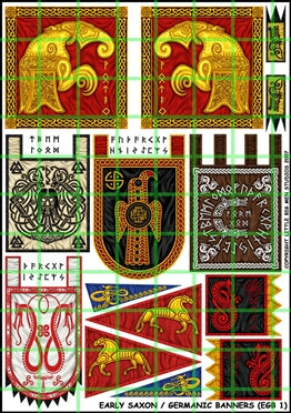 Early Saxon/Germanic Banners sheet