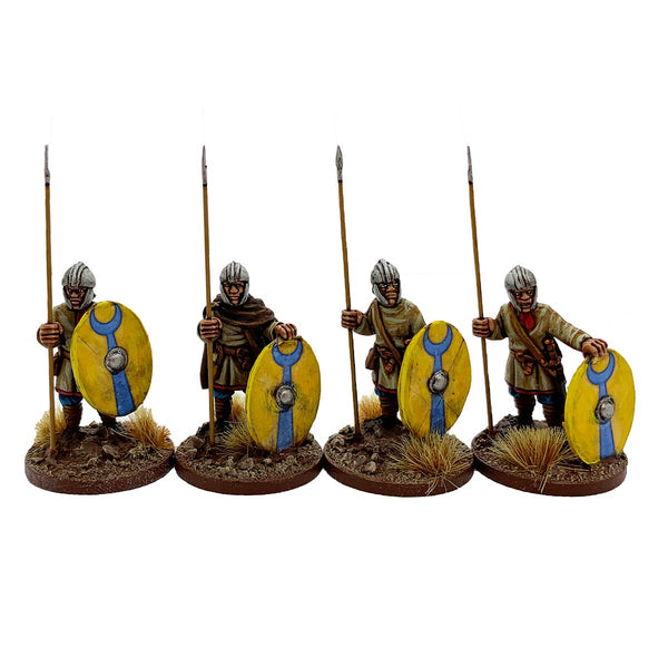 Late Roman Unarmoured Infantry in Helmets standing