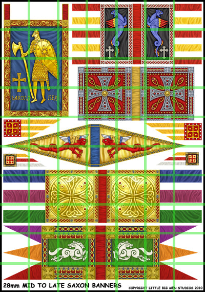 Mid to Late Saxon Banners sheet