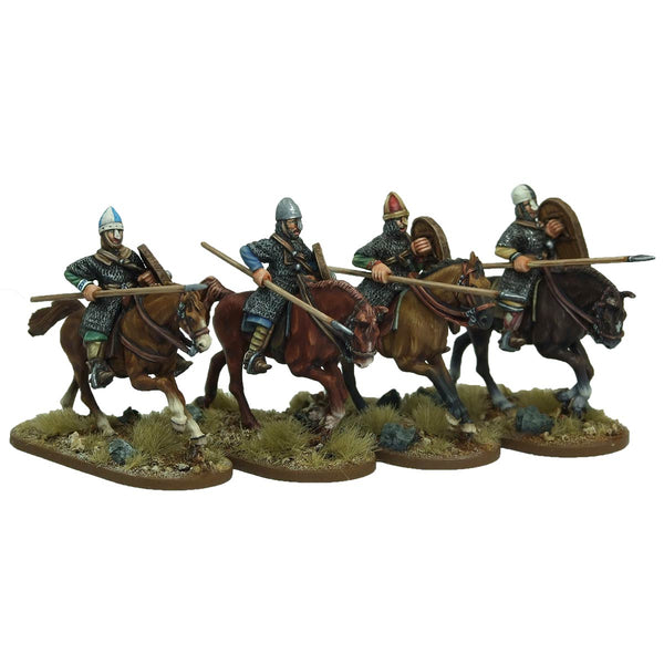 Norman Cavalrymen couched lance arms