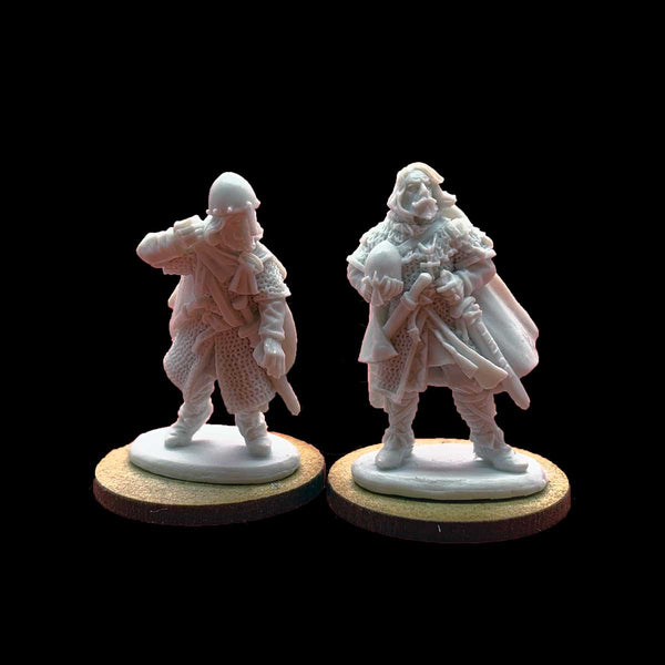 Late Saxon Warlord & Bannerman - Resin