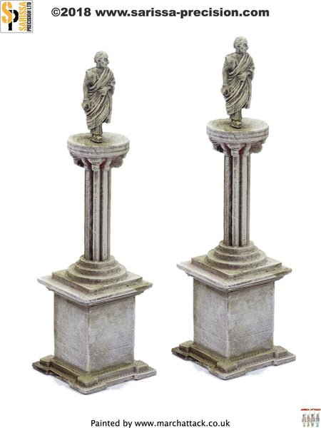 Statue Column Plinth Set