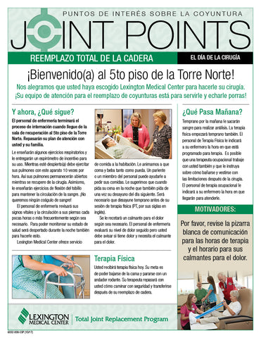 Flyers lmc marketing catalog 6032 009 csp brjoint points hip replacement daily handouts spanish fandeluxe Image collections
