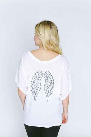 Angel Wings Dolman Sleeve Shirt