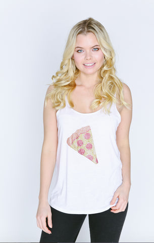 Pizza Emoji Girlfriend Tank Top