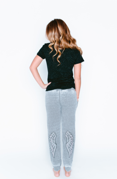 Angel Wing Burnout Jogger Sweatpants