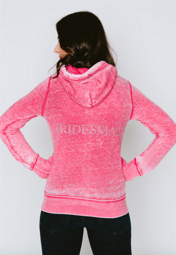 Bridesmaid Burnout Femme Womens Zip-Up Hoodie