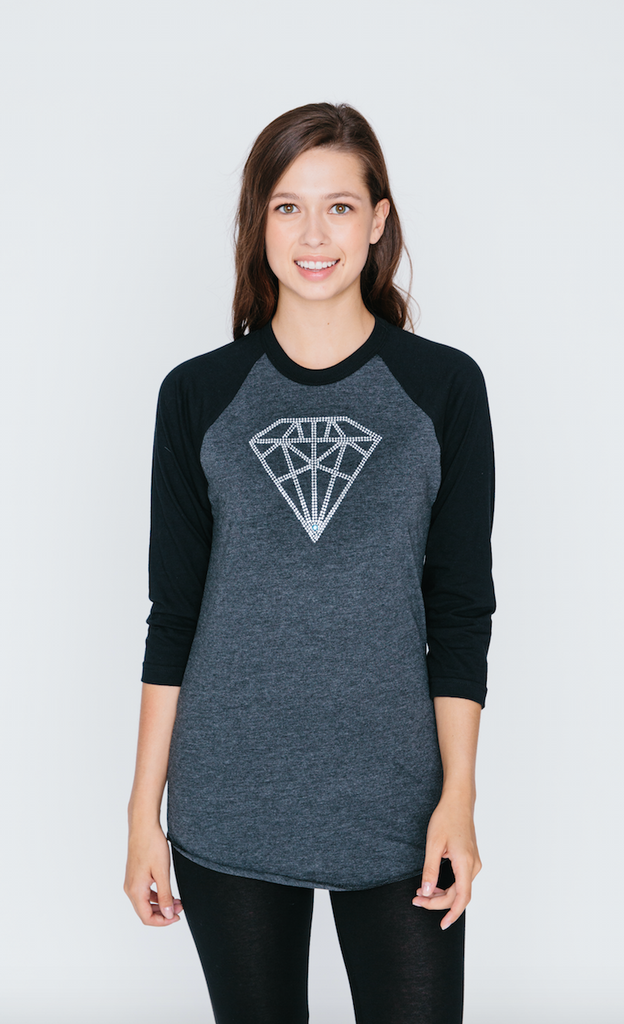 Diamond Raglan Baseball T Shirt