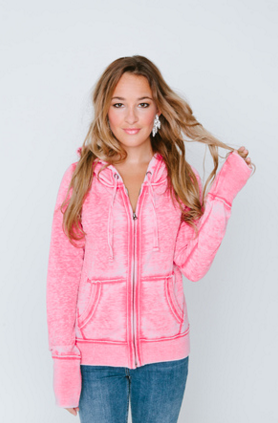 Burnout Femme Womens Zip-Up Hoodie