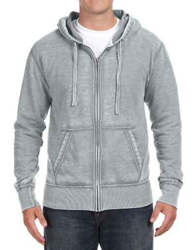 Burnout Mens Boyfriend Zip-Up Hoodie
